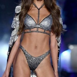 VS Fashion Show Rhinestone Long Line Bra & Thong